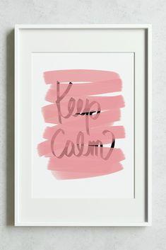 Keep Calm, Pink Typography Print #fluorama#fluoramaposters#keepcalm#typographyprints#pink#pinkdecor#interiordesign Typography Prints, Etsy Seller, Graphic Design, Interior Design, Frame, Illustration, Nest Design, Picture Frame, Home Interior Design