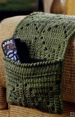 TV Remote caddy - great quick project for granny squares