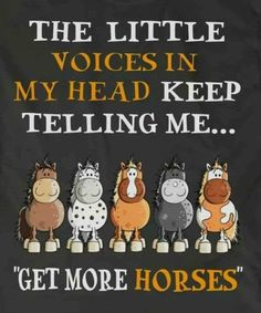 """The little voices in my head keep telling me... """"Get More Horses!"""""""
