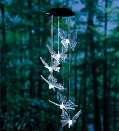 $19.95 - Flying Butterfly Solar Mobiles With Bright LEDs. Only 2 reviews. Not as great as their dragonfly lights.