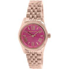 315783f15046 Michael Kors Women s Lexington MK3285 Rose Gold Stainless-Steel Quartz Watch  Review Gold Watches Women
