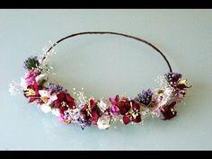 DIY.Balacas decoradas con flores artificiales. coronas con flores para el cabello 339 - YouTube