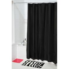 Evideco Eva Solid Shower Curtain Color: