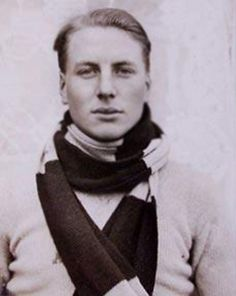 "Andrew ""Sandy"" Irvine, c. 1920. An elite mountaineer while still an undergrad at Oxford, Irvine agreed to join George Mallory in his Everest expedition in 1924.  The two were last seen several hundred yards from the summit and it's not known if they reached it. Irvine died on Everest at the age of twenty-two, and his body was never recovered."