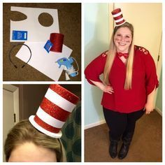 The Thrifty Teacher: DIY Dr. Seuss Cat in the Hat Costume