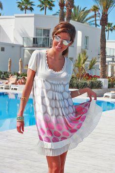 #dotdress #pinkdress #thehighville #streststyle  http://www.thehighville.com/blog/