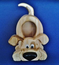 """Puppy Bank - 6"""" x 9"""" coin bank made from 6 layers of scrap pine.  The two oval Eyes were purchased at Michael's"""