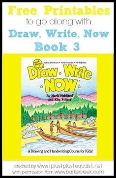 Free Printables to go along with Draw, Write Now book 3 {themes include: Native Americans, North America, and Pilgrims}  Created by www.1plus1plus1equals1.net with permission from www.barkercreek.com