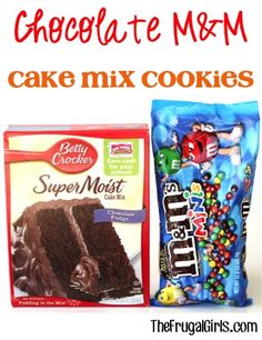 Chocolate M&M Cake Mix Cookies Recipe! ~ from TheFrugalGirls - this Easy cookie recipe is SO delicious and makes the perfect M M dessert! #recipes #thefrugalgirls