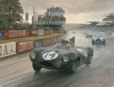 Motor Sport Art by Michael Turner and Graham Turner, Aviation Art by Michael Turner, Medieval and Historic Art by Graham Turner Turner Painting, Car Painting, Le Mans, British Sports Cars, Car Drawings, Automotive Art, Sports Art, Car Wallpapers, Auto Racing