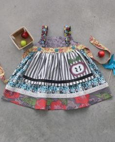 I bought this dress for Taylor from my trunk keeper, Erin.  I have recieved so many complements and it can turn into a tunic as she grows.  Matilda Jane's clothing is so unique, well made with georgous materials and adds a little bit of stylish innocence into our growing girl's wardrobe!