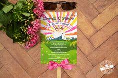 Sommerhochzeit - Styledshoot - feenstaub.at it's getting hot in here! :) Summerwedding Programmfächer, Programmablauf, Trauungsablauf, Trauungsprogramm als Fächer