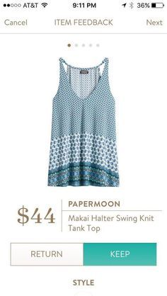 Stitch Fix Papermoon Makai Halter Swing Knit Tank Top *super cute with white jeans!*