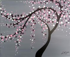 Cherry blossoms maybe with a blue background love the for Painting with a twist greenville tx