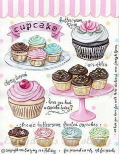 "Everyday is a Holiday — ""Cupcakes"" Full Color Sticker Sheet"