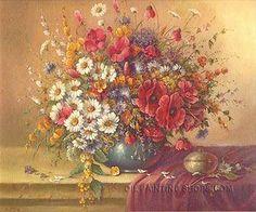 "Enchanting Art Reproduction Oil Still Life Flower Oil Painting Bouquet, Size: 24"" x 20"", $83. Url: http://www.oilpaintingshops.com/enchanting-art-reproduction-oil-still-life-flower-oil-painting-bouquet-2241.html"