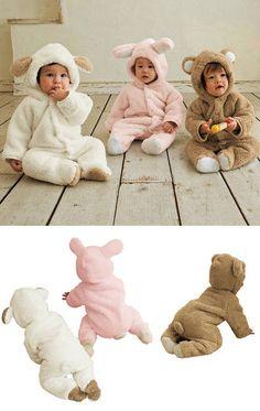 Ultra Soft,Cute and Warm Hooded Animal Sleeper www.destination-baby.com
