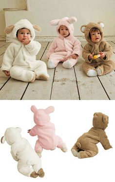Ultra Soft,Cute and Warm Hooded Animal Sleeper www.destination-baby.com