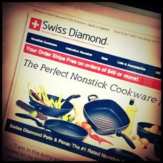 From the Product Poet, a haiku: A Swiss Diamond. The Perfect Nonstick Cookware.  Cut above the rest.  #haiku #productpoet