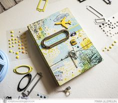 Light mixed media travelbook by Maria Lillepruun