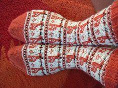 orange giraffe sock knitting instruction size 38/39 by Sandra Jäger