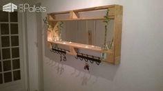 Pallet Mirror For My Entrance Pallet Candle Holders Pallet Shelves & Pallet Coat Hangers