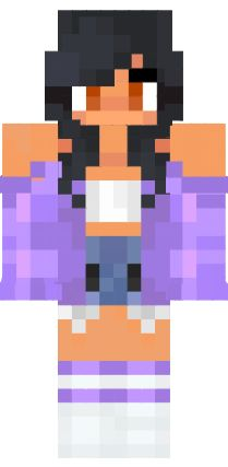 I couldn't find the current version so on here so I uploaded it to use on a mod. Minecraft Skins Cool Girl, Amazing Minecraft, Minecraft Pe, Minecraft Houses, Aphmau Characters, Minecraft Characters, Aphmau Skin, Aphmau Wallpaper, Skin Nova