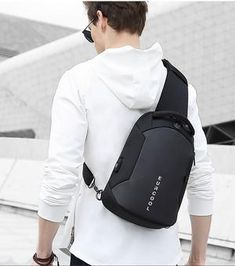 Multifunctional waterproof men's chest crossbody bag with USB charging port Fashion Handbags, Fashion Bags, Backpack Bags, Leather Backpack, Back Bag, Crossbody Shoulder Bag, Crossbody Bags, Multifunctional, Mens Clothing Styles