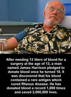 Faith In Humanity Restored - Nerd fact. James Harrison aka Khan in Star Trek. His blood is the cure for basically everything. John Maxwell, We Are The World, In This World, James Harrison, Human Kindness, Kindness Matters, Life Quotes Love, Change Quotes, Quotes Quotes