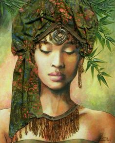 Akonadi: Ghanaian oracle Goddess of Justice. This is all the info I could find on her.