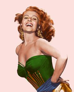 The energy that Rita Hayworth had comes through here! Colorization done by Bjorn. Hollywood Star, Hollywood Glamour, Hollywood Actresses, Classic Hollywood, Hollywood Divas, Rita Hayworth Movies, Sainte Rita, Margarita, Bombshell Beauty