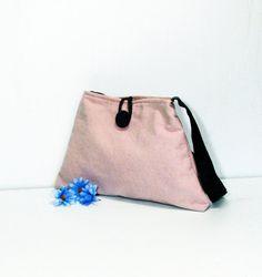 Nude pink purse - shoulder bag - canvas bag - spring bag - summer purse
