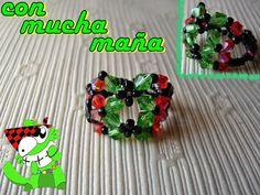 Con mucha maña • Creación y diseño de abalorios•: ANILLO DE 16 TUPIS http://kittyselios.blogspot.com/