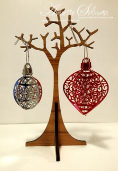 Lavender Thoughts | Annette Sullivan | Stampin' Up! Delicate Ornaments Silver and Red