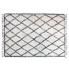 HK-Living Rug white berber wool - LIVING AND COMPANY
