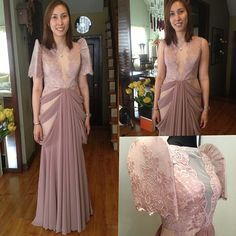 I got this recipe years ago from a friend of mine. I remember thinking that it looked so complicated and tasted so decadent. I was ver. Modern Filipiniana Gown, Filipiniana Wedding Theme, Wedding Gowns, Wedding 2015, Formal Gowns, Formal Wear, Filipino Wedding, Filipino Fashion, Bridesmaid Dresses