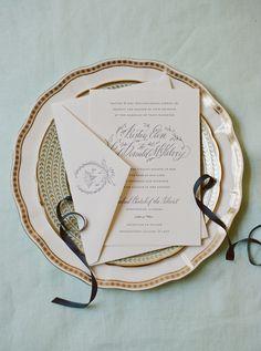 pretty calligraphy invitation | Mandy Busby