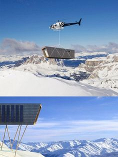 "Cimini Architettura propose a moveable, low-environmental-impact home that could be transported to the site via helicopter. The project intends to place himself in contrast, suggest alternative ways to enjoy the mountains, promoting sustainable development and use of solutions with minimum environmental impact. ""Eco-temporary refuge"" is a building to stay in the mountains, designed to be self-sufficient, flexible and easily removable."