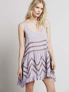 Voile and Lace Trapeze Slip from Free People!