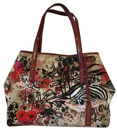 Jimmy Choo Scarlet Canvas Tote Bag $100.0