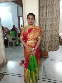 Saree Wedding, Wedding Bride, Wedding Dresses, Gold Earrings Designs, Jewellery Designs, Diamond Jewellery, Gold Jewelry, Indian Heritage, South Indian Bride
