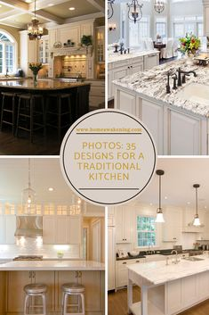 Take a look at these 35 outstandingly elegant concepts for traditional kitchen designs. Kitchen With Big Island, Big Kitchen, Kitchen Layout, Kitchen And Bath, Home Design Blogs, Kitchen Trends, Kitchen Ideas, Kitchen Designs Photos, Farmhouse Light Fixtures
