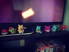 «I have an addiction to Pokemon nanoblocks haha #pokemon #pokeball #nanoblock #gengar #charmander #bulbasaur #squirtle #lapras #dragonite #caterpie #mydrugs»