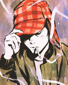 Catcher in the Rye Illustration by kuvshinov-ilya, via tumblr