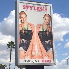 WEBSTA @ judybluejeans - Spotted: Our Tie Dye Shorts on a billboard #styleforless #denim #tiedye #shorts #fashion