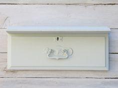 Vintage Drawer Shelf in Light Grey Chalk Paint
