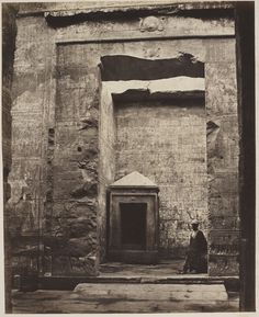 Francis Bedford - Monolithic shrine in the Adytum of the Temple of Horus, Edfu, Egypt, 14 March 1862
