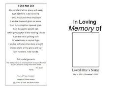 8 Best Top Memorial Bookmark Template Designs Images Bookmark
