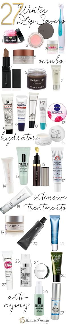Lip Savers: Products To Keep Your Pout Happy This Winter. What to use to keep your lips in great shape, and what to use when you lips become very chapped and painful!