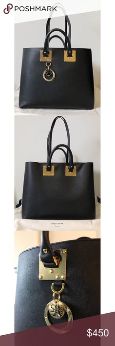 1942d4f7cbf8 Sophie Hulme Soft Leather East West Tote Material: grained calf skin with  gold-plated